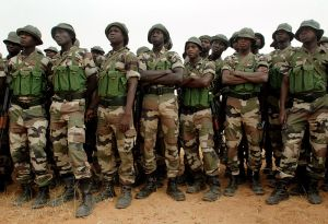 Nigerian soldiers. U.S. Navy photo by Mass Communication (By Specialist 1st Class Michael Larson (RELEASED)