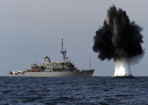 USS Scout in the Strait of Hormuz; US DoD photo