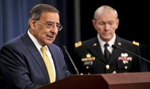 US Defense Secretary Leon Panetta announces the new defense strategy. DoD photo by Glenn Fawcett
