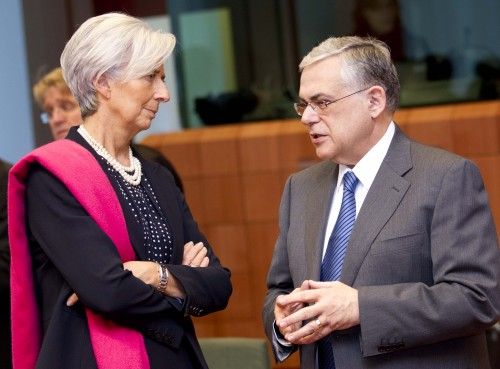Christine Lagarde, Managing Director of the International Monetary Fund, and Lucas Papademos, Greek Prime Minister (Photo: The Council of the European Union)