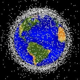 Computer generated image of objects in low Earth orbit (Image: NASA Orbital Debris Program Office)