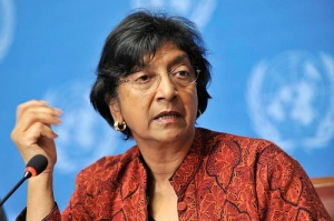 Press conference Navanethem Pillay. UN Photo