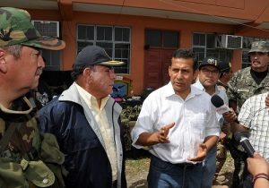 Peruvian President Ollanta Humala speaks after Comrade Artemio's arrest. Photo from Humala's Flickr feed