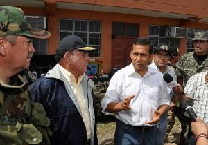 Peruvian President Ollanta Humala speaks after Comrade Artemio's arrest. Photo from Humala's Flickr feed
