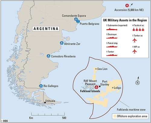 UK military assets in the Falklands region
