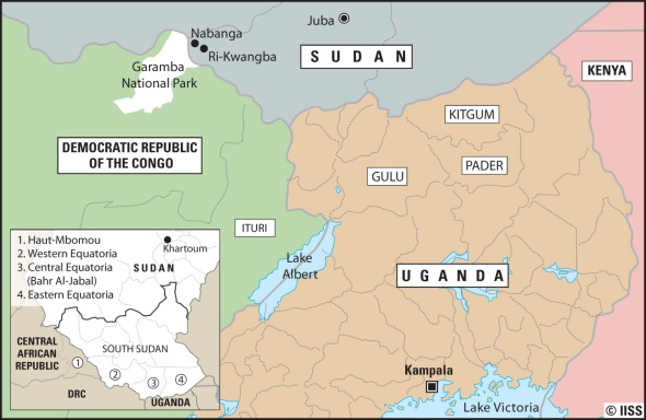 Map of the LRA's area of operations