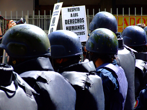 Venezuela human rights demo by Flickr user ervega