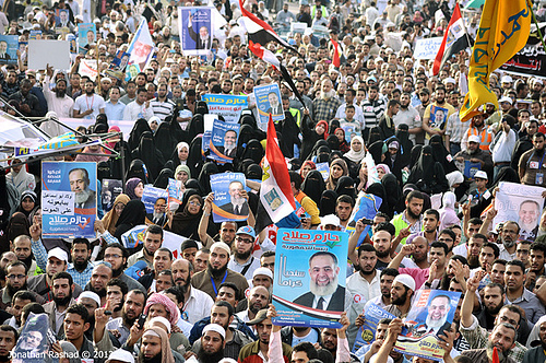 Salafi Islamists rally in Cairo's Tahrir square protesting the disqualification of Hazem Abu Ismail from Egypt's presidential race (Photo: Jonathan Rashad CC BY-NC-SA 2.0)