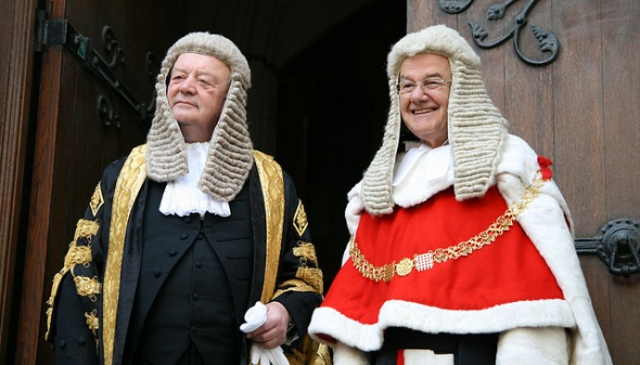 Kenneth Clarke and the Lord Chief Justice. Photo Ministry of Justice UK
