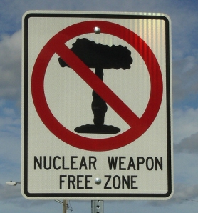Nuclear weapons-free zone sign from IowaHighways' flickr account