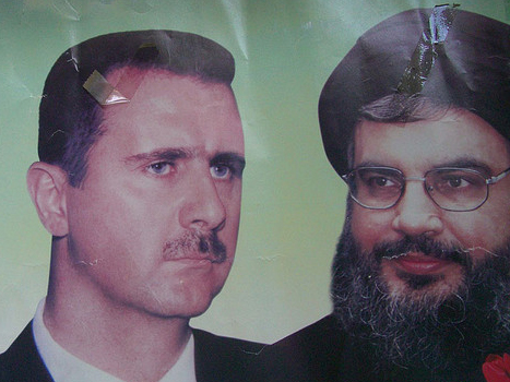 Poster of Syria's Bashar al-Assad and Hizbullah's Hasan Nasrallah. Photo Flickr/Christopher Wilken