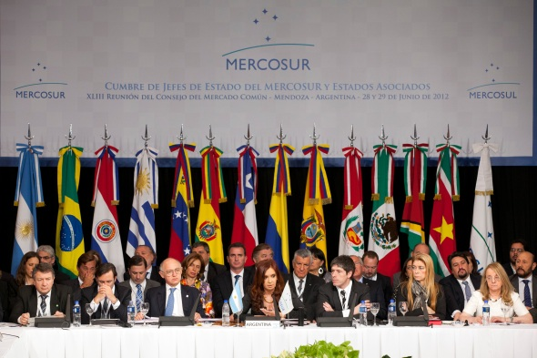 XLIII Mercosur Head of States Summit in Mendoza Argentina on 29 June 2012 (Photo: Fernanda LeMarie - Ministerio de Relaciones Exteriores, Comercio e Integracian, Argentina)