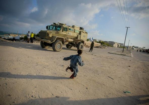 Amison vehicle in Mogadishu. Photo AU UN IST, Stuart Price