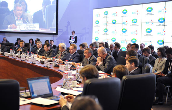Trade ministers from APEC-member economies attend a June 2012 summit in Kazan, Russia.