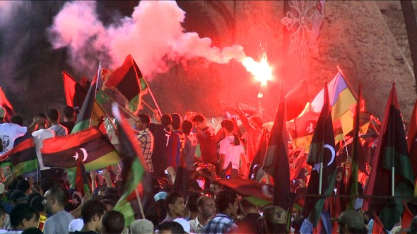Life after Gadhafi: celebrations in Tripoli at the end of the regime. Photo: NATO