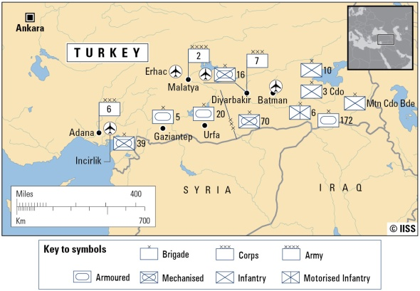 Turkey's military capablities along Syria's border