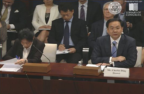 Huawei's Charles Ding appears before the USHR17 Select Committee on Intelligence