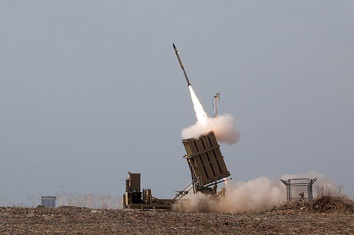 Iron Dome in action in Ashdod: Photo: IDF on Flickr