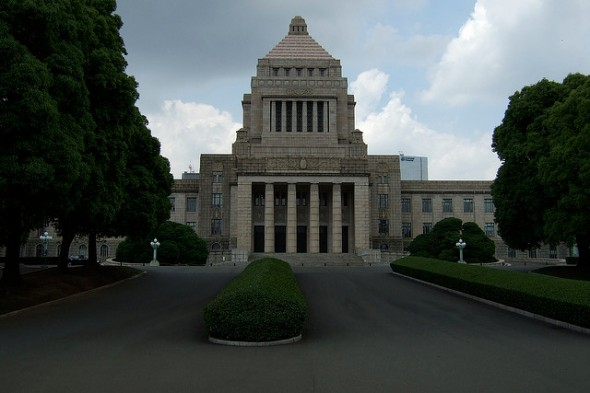 Japan's National Diet building. Photo Credit: Flickr/chaojikazu