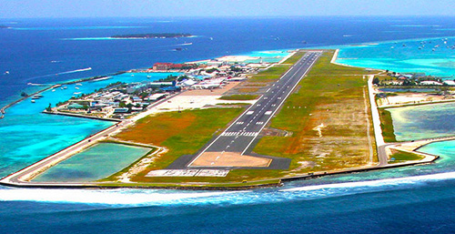 The airport in Male, capital of the Maldives
