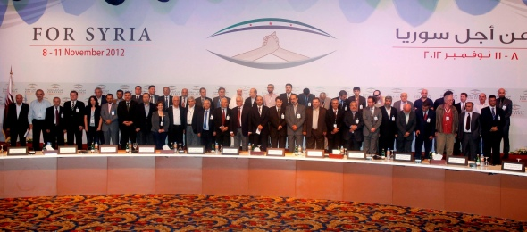 First meeting of the Syrian National Coalition, Doha, November 2012