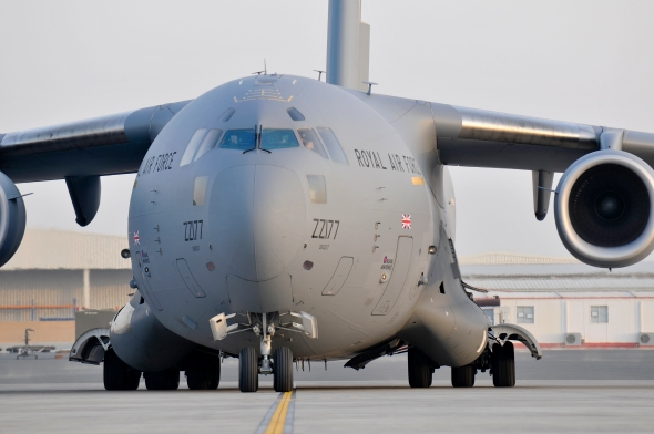 RAF C17 Transport Aircraft. Photo MoD under an Open Government Licence