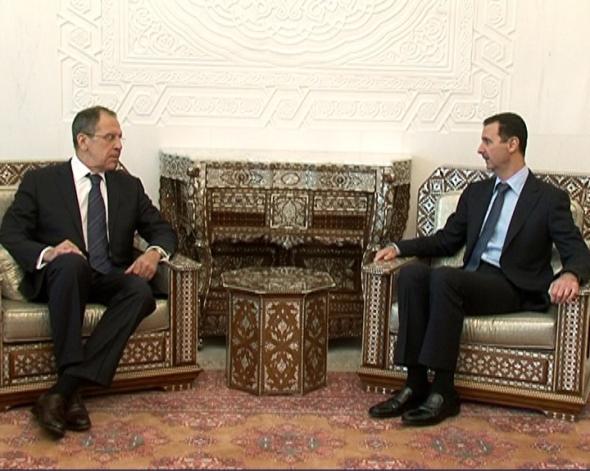 Встреча Министра иностранных дел России С.В.Лаврова и Президента Сирийской Арабской Республики Б.Асада, Дамаск, 7 февраля 2012 года - 07022012