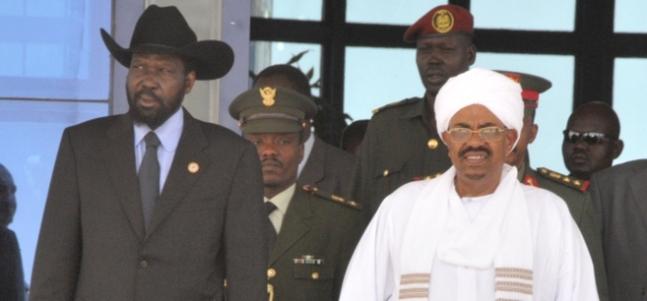 South Sudanese President Salvar Kiir and Sudanese President Omar al-Bashir. Photo Sudan Vision