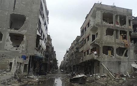 Douma district of Damascus. Freedom House Photo