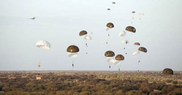 French paratroopers land outside Timbuktu: Photo: French Army Communications Office