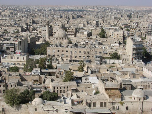 The Syrian city of Aleppo. Photo Credit: Flickr Creative Commons/watchsmart