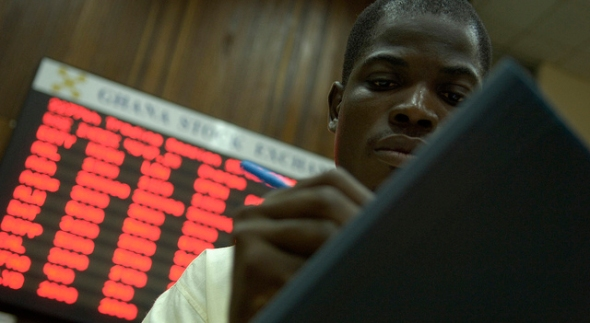 Traders in the Ghanaian Stock Exchange World Bank Photo Collection