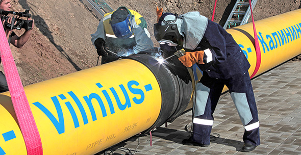 Vilnius to Kaliningrad gas pipeline Photo Gazprom